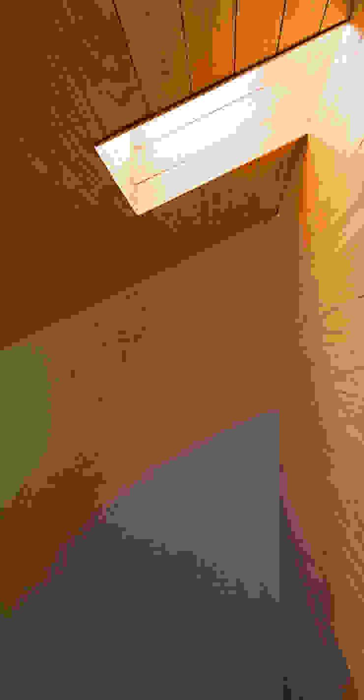 赤羽M邸-玄関ホールトップライト オリジナルな 家 の アイプランニング オリジナル 木 木目調