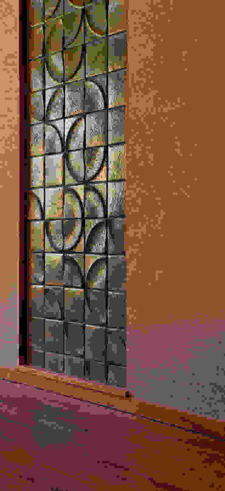 赤羽M邸-ダイニング既存タイル移設貼り オリジナルな 家 の アイプランニング オリジナル 木 木目調
