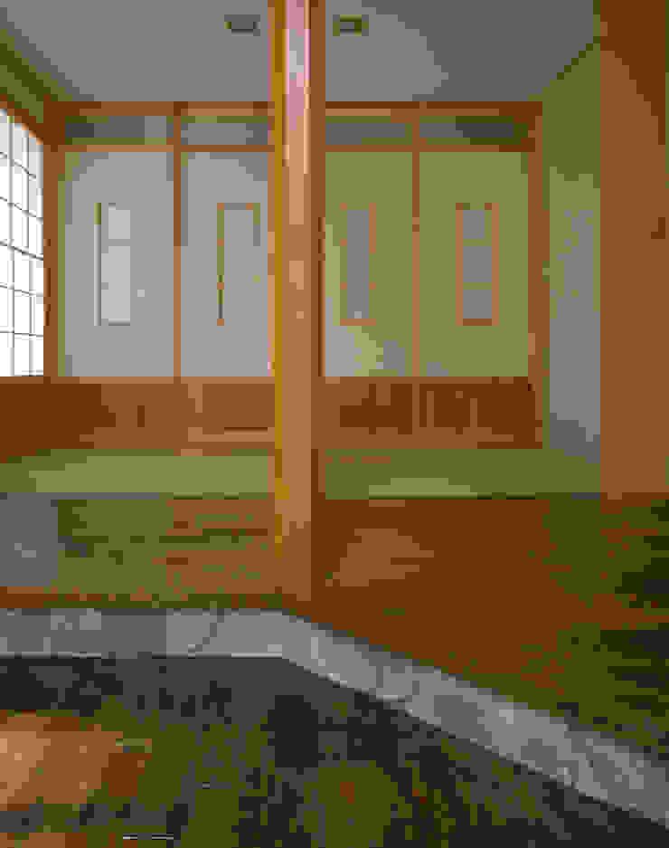 赤羽M邸-リビングから和室 オリジナルな 家 の アイプランニング オリジナル 木 木目調