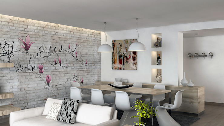 AVarch Modern Dining Room White