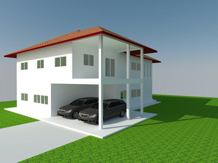 บ้านคุณชมพูนุช โดย Home Base Construction