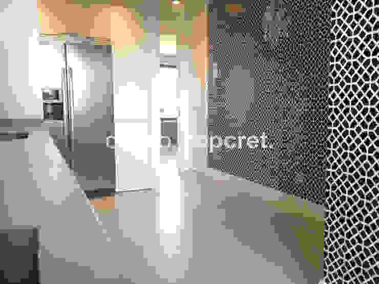 Topcret Dapur Gaya Eklektik Grey