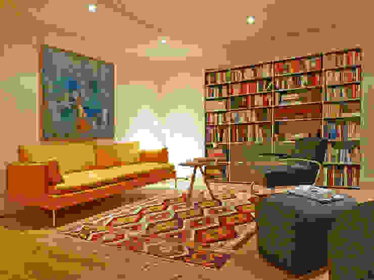 Kiran Kelim & Teppich Kunst Modern living room Amber/Gold