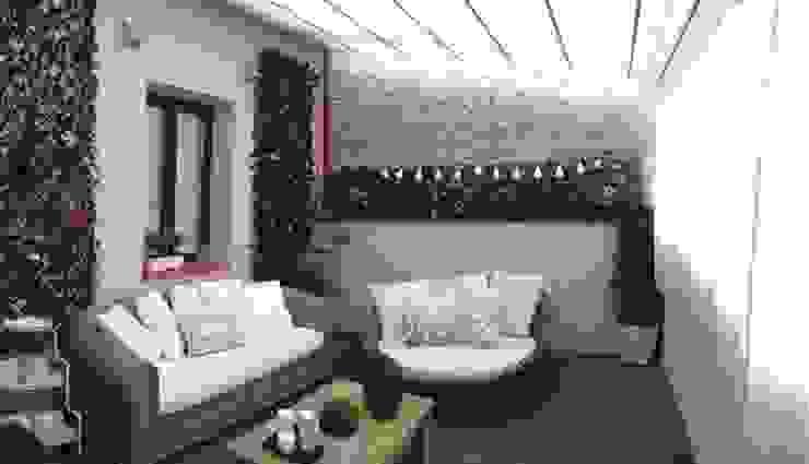 Vivienda particular Balcones y terrazas de estilo ecléctico de Démeri estudio Ecléctico