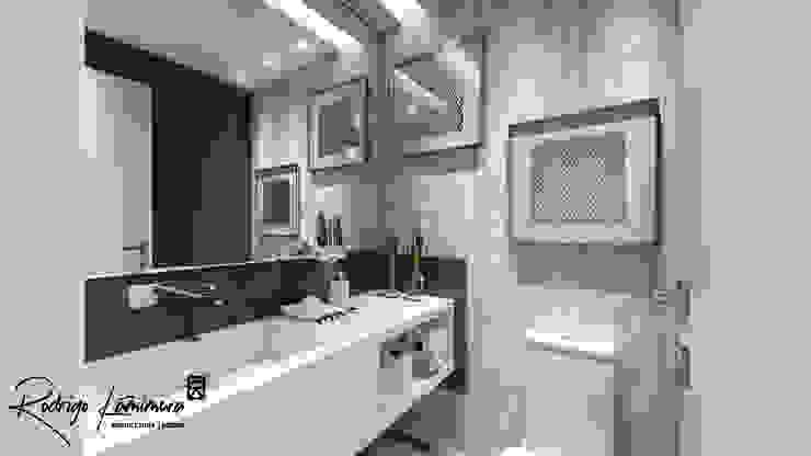 Lavabo: Banheiros  por Rodrigo Kamimura - Arquitetura e Design,