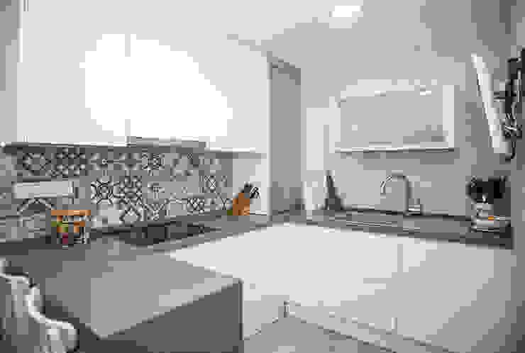 Grupo Inventia Modern kitchen Wood-Plastic Composite White