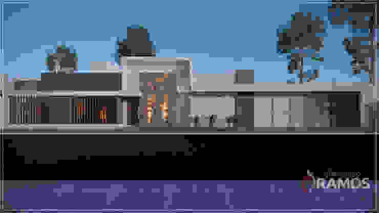 Casas modernas de Alessandro Ramos Arquitetura Moderno Piedra