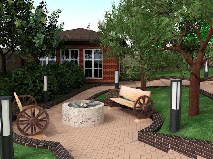 Scandinavian style garden by InsaitDesign Scandinavian