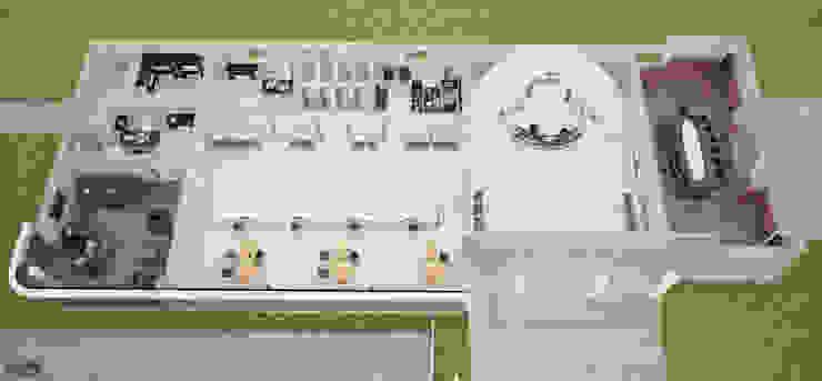 ROAS ARCHITECTURE 3D DESIGN AGENCY – INTERIOR AND EXTERIOR DESIGN FOR GERMENCIK ZIRAAT ODASI: modern tarz , Modern