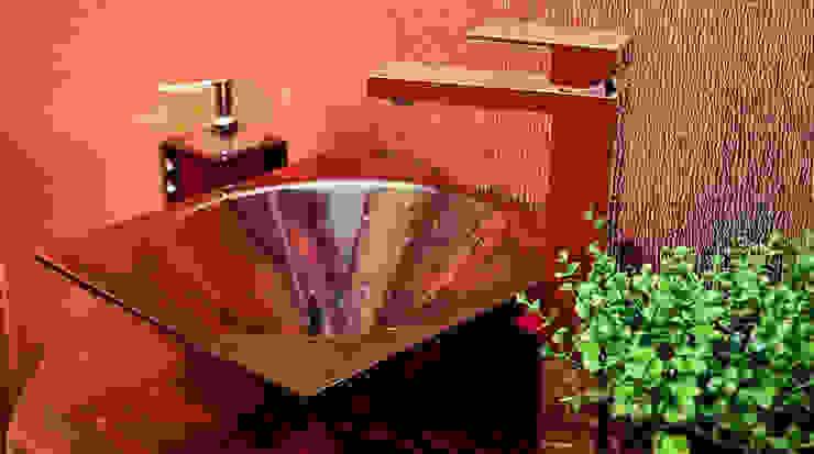 Lavabo homify Banheiros modernos Vidro Bege