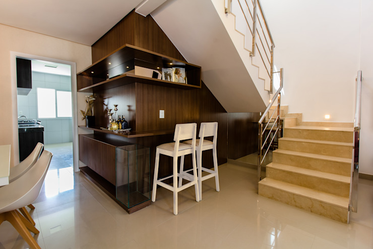 Living room by Lícia Cardoso e Rafaella Resende, Modern