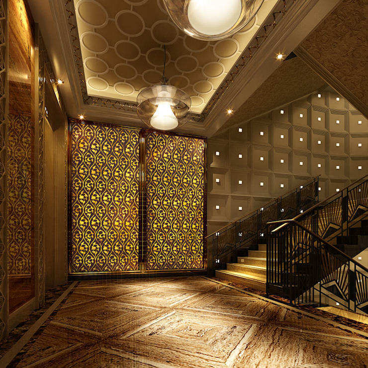 CNC Carving Faux Alabaster in China Asian style corridor, hallway & stairs by ShellShock Designs Asian Stone