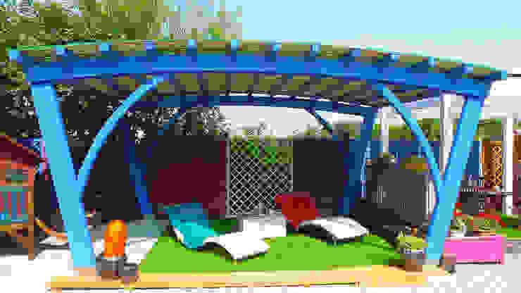 Verdebano ASC F.lli Saramin & Co. s.n.c. Garden Greenhouses & pavilions Kayu Buatan Blue