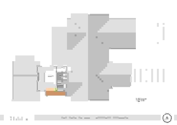 Planta Alta casa Paico Dormitorios de estilo rústico
