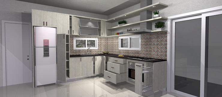 Modern kitchen by Muebles del angel Modern