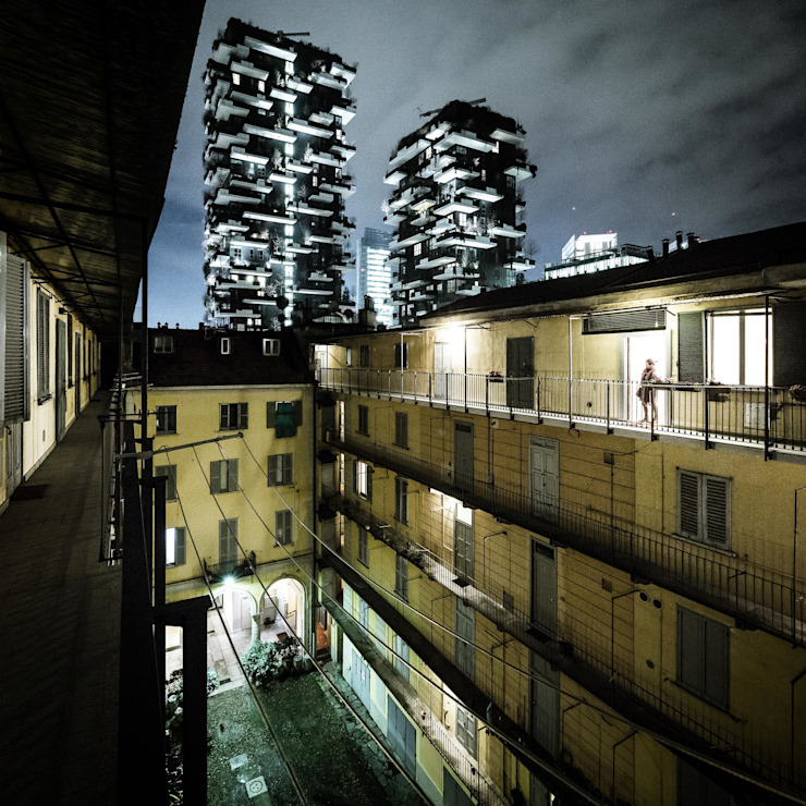 23bassi studio di architettura Balconies, verandas & terraces Lighting