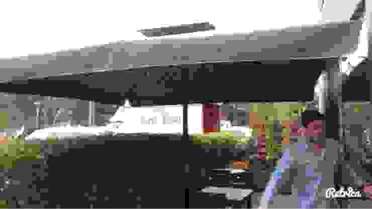 müşteri bahçesine şemsiye kurulumu Eklektik Bahçe Akaydın şemsiye Eklektik Arduvaz