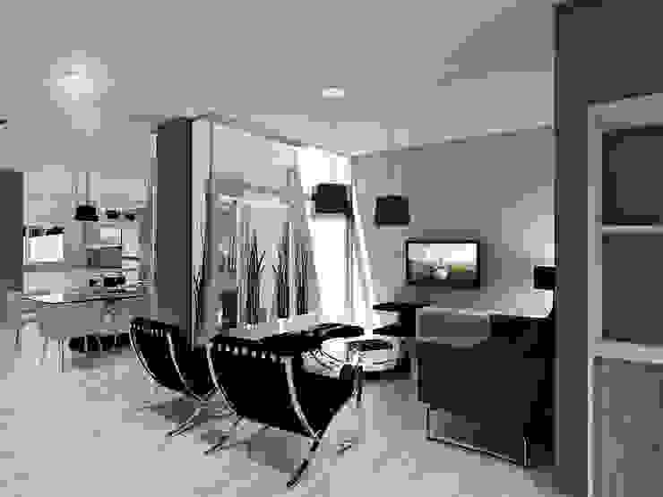 INTERIOR Livings modernos: Ideas, imágenes y decoración de Estudio MaRqS Moderno