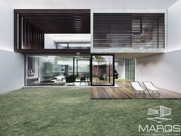 FACHADA CASA Casas modernas: Ideas, imágenes y decoración de Estudio MaRqS Moderno