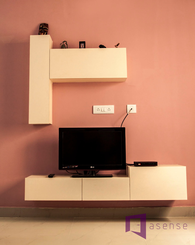 Entertainment Unit: modern  by Asense,Modern Wood Wood effect
