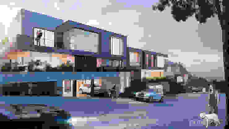 Vista General Casas modernas de Pure Design Moderno