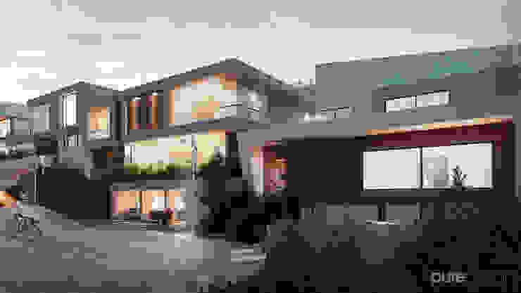 Vista general 2 Casas modernas de Pure Design Moderno