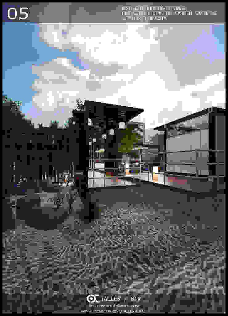 JUGUERIA/OFICINA Casas modernas de TALLER819 A & C Moderno Hierro/Acero