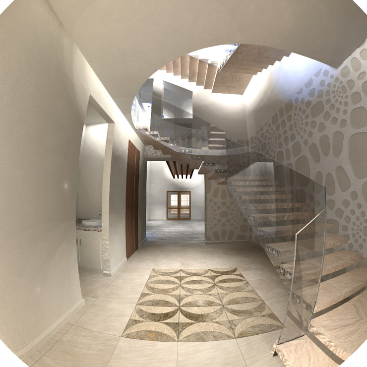 by SG Huerta Arquitecto Cancun Colonial Marble
