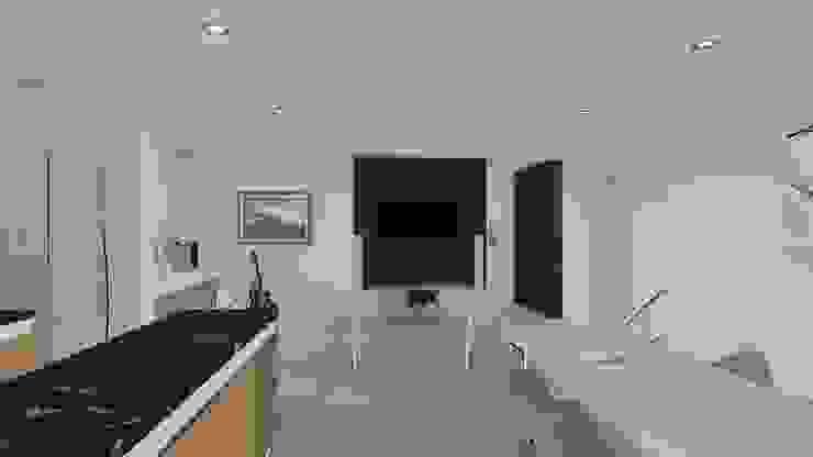 Vivienda de planta alta Salones minimalistas de ARBOL Arquitectos Minimalista