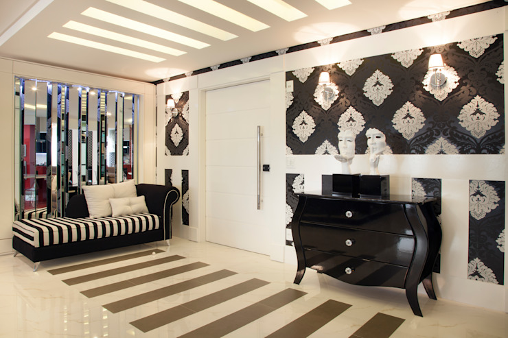 Ahph Arquitetura e Interiores Modern walls & floors Black