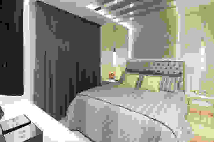 Dormitório Casal Ahph Arquitetura e Interiores Quartos ecléticos Cinza