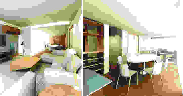 APARTAMENTO PRINCESA ISABEL Salas de jantar modernas por Zanatta Figueiredo Arquitetos Associados Moderno
