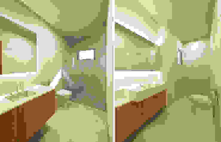 現代浴室設計點子、靈感&圖片 根據 Zanatta Figueiredo Arquitetos Associados 現代風