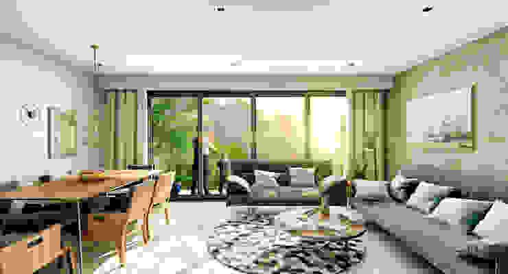Venturi Residencial Salones modernos de IARKITECTURA Moderno Vidrio