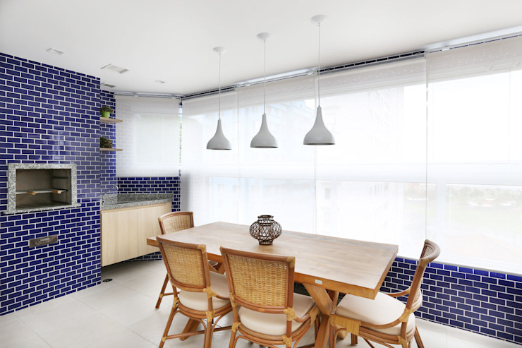 Apartamento Itararé PAGAMA arquitetura + design Varandas, alpendres e terraços modernos