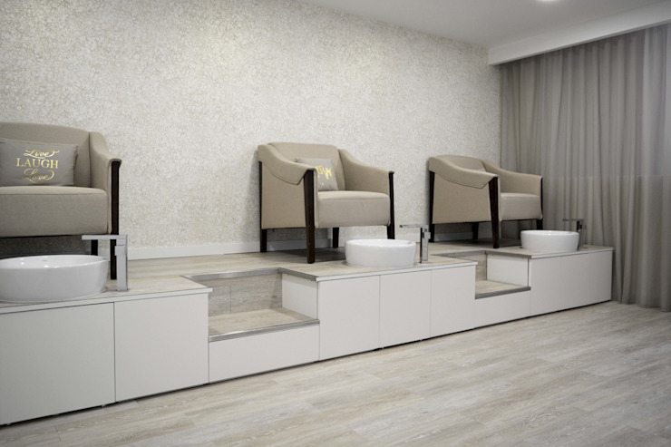Sala de Manicure Espaços comerciais modernos por Tó Liss Moderno MDF