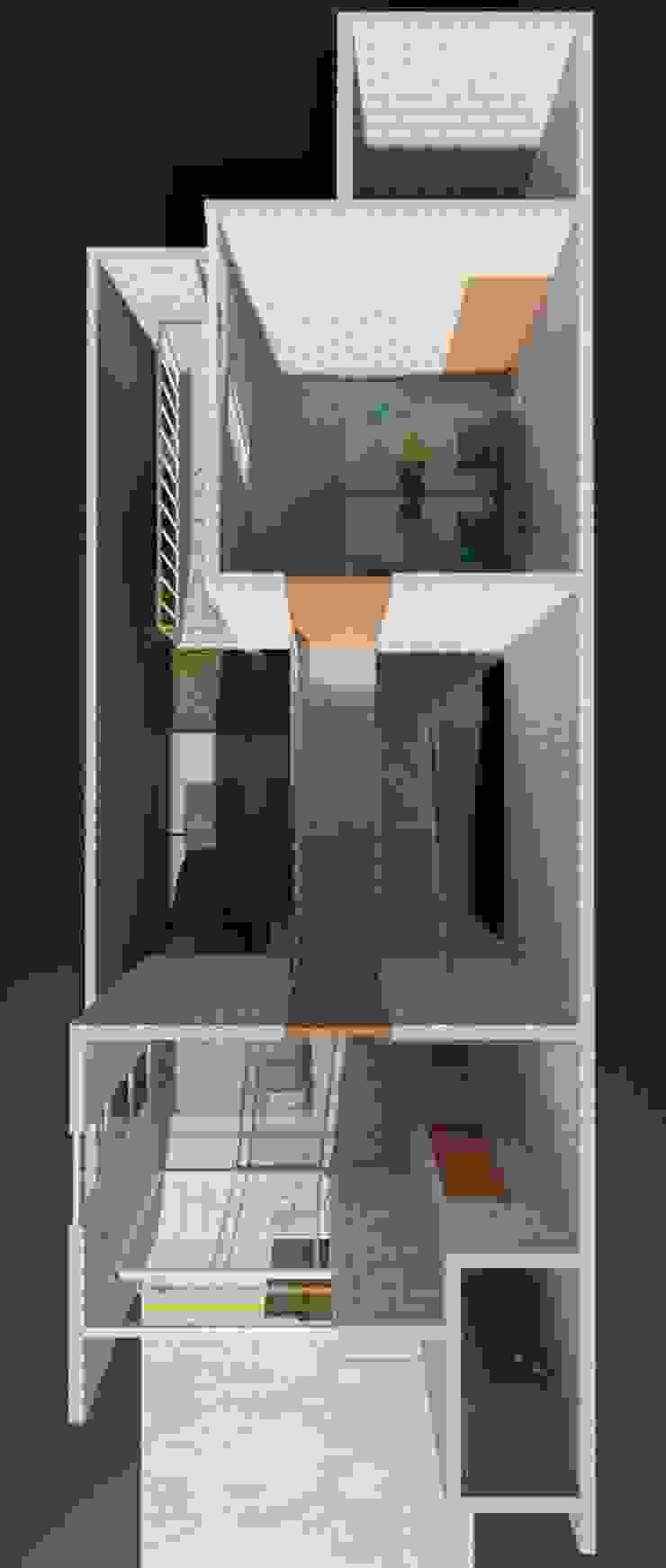 CASA ISMAEL Casas modernas de Estudio Tresuncuarto Moderno
