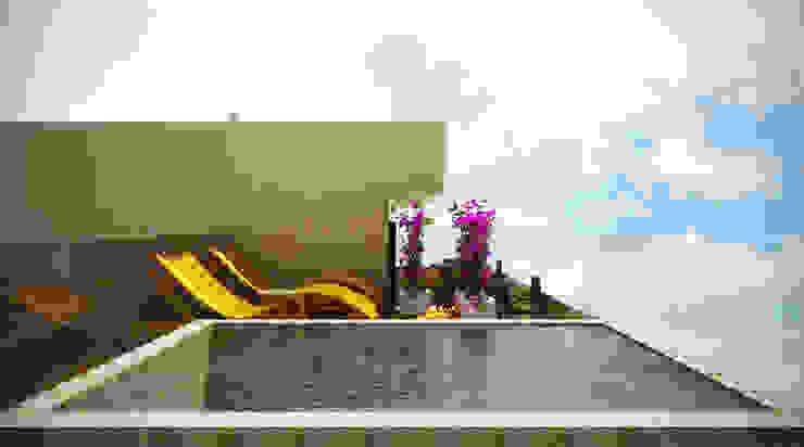 Piscinas de estilo moderno de SCK Arquitetos Moderno Piedra