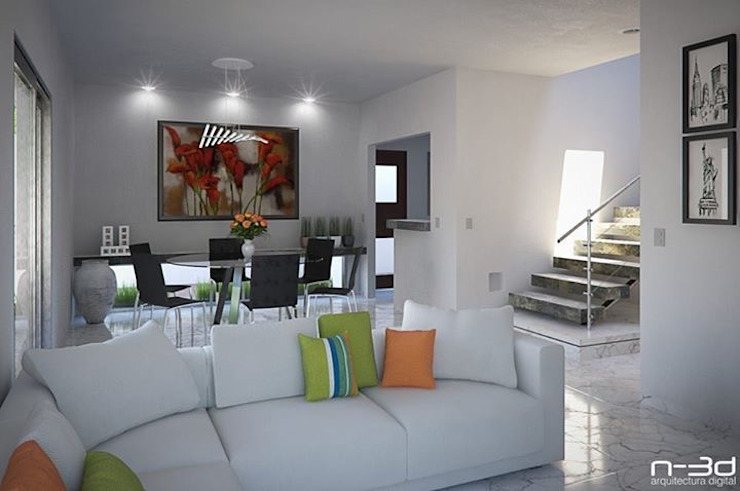 Maqueta interior Salones minimalistas de FERCO Minimalista Cerámico
