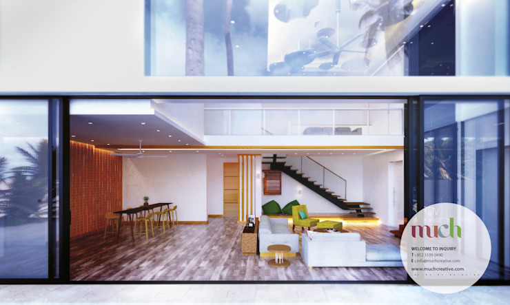 Perspective View Tropical style hotels by Much Creative Communication Limited Tropical Wood Wood effect