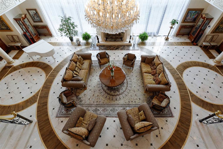 NG PALACE Klasik Oturma Odası Inan AYDOGAN /IA Interior Design Office Klasik Mermer