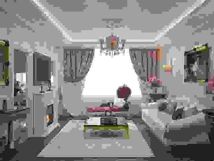 Дизайн бюро Оксаны Моссур Вітальня Білий