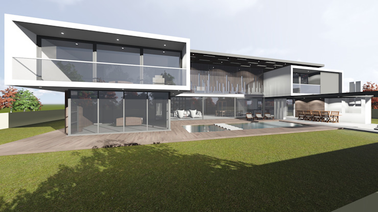 Modern houses by Green Code Designs Pty Ltd Modern Glass