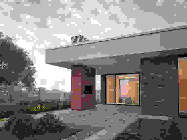 Загородный дом для молодой семьи Дома в стиле минимализм от премиум интериум Минимализм