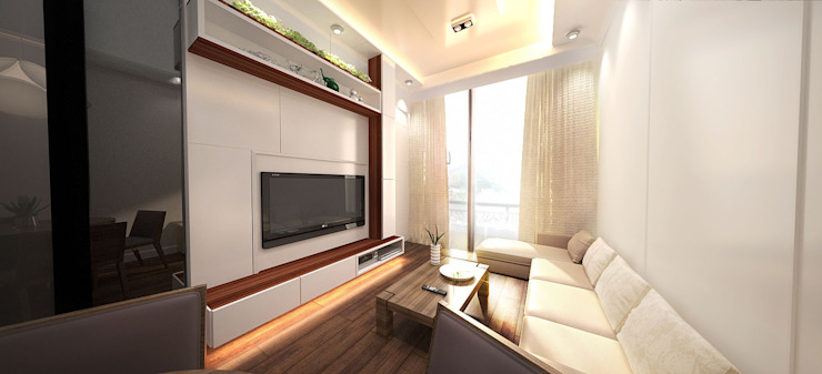 6/F TOWER 6 METRO TOWN PHASE 2 LE POINT Minimalist living room by Much Creative Communication Limited Minimalist