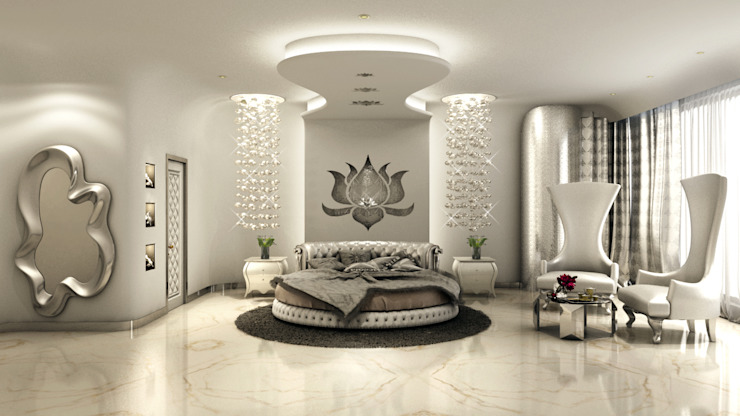 Serene Bedroom:  Bedroom by AAMRAPALI BHOGLE,
