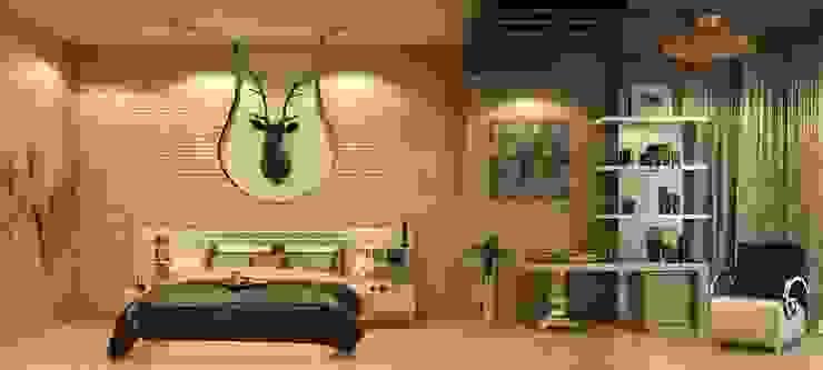 AAMRAPALI BHOGLE Camera da letto in stile classico Legno Beige