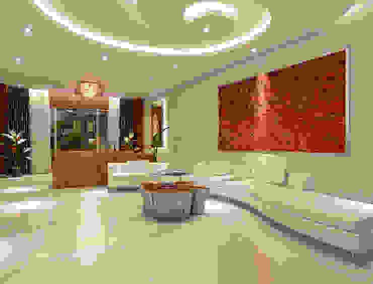 Ruang Keluarga Klasik Oleh AAMRAPALI BHOGLE Klasik Marmer