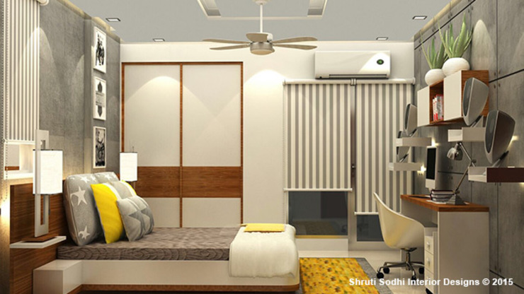 Interior Decoration Modern style bedroom by Shruti Sodhi Interior Designs Modern
