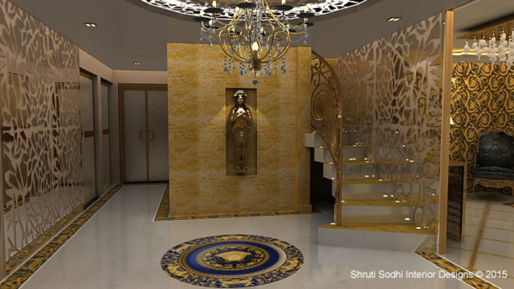 Interior Decoration Modern corridor, hallway & stairs by Shruti Sodhi Interior Designs Modern